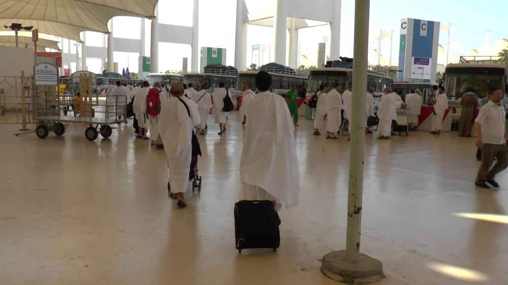 This file photo shows pilgrims at the Haj Terminal in Jeddah.