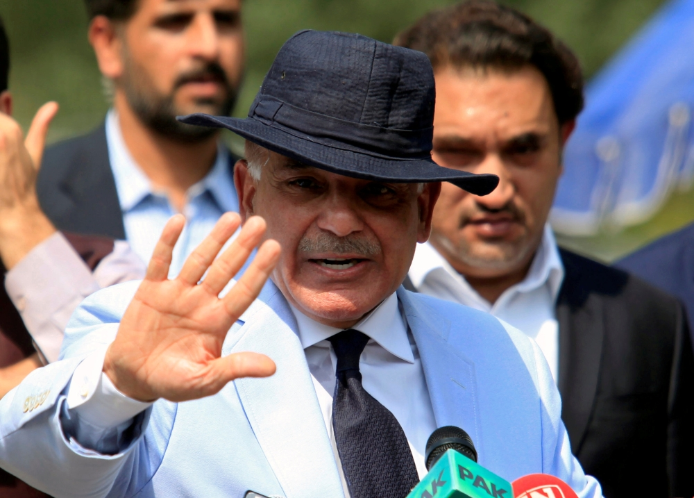 Shahbaz Sharif, chief minister of Punjab province and brother of Pakistan's Prime Minister Nawaz Sharif, gestures after appearing before a Joint Investigation Team in Islamabad in this June 17, 2017 file photo. — Reuters