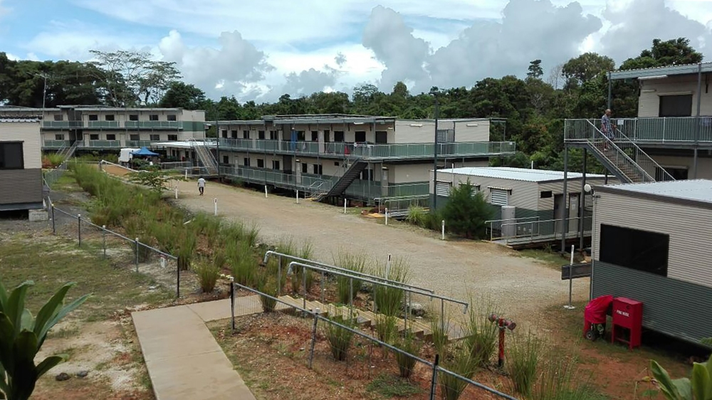 This undated handout picture received from the Refugee Action Coalition on Monday shows the Australian-run East Lorengau Transit Accommodation for refugees in East Lorengau on Manus Island in Papua New Guinea. — AFP