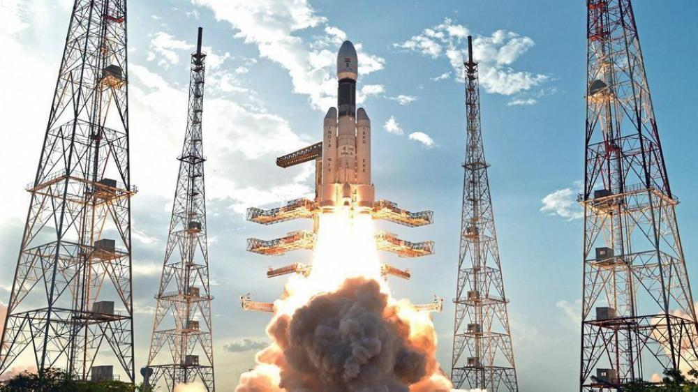 ISRO's heaviest rocket GSLV Mk-III, carrying communication satellite GSAT-19, takes off from Satish Dhawan Space Centre in Sriharikota.