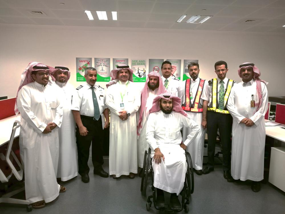 SGS officials gearing up for their CSR activity during Haj. — Courtesy photo