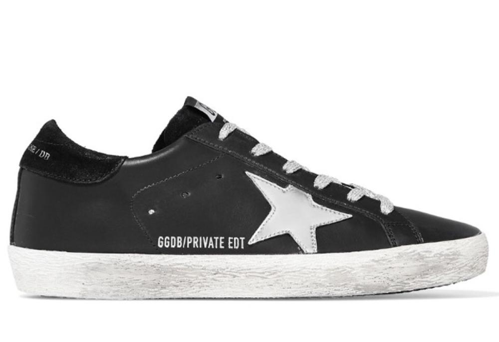 Golden Goose superstar distressed leather and suede sneakers (SR 1411)
