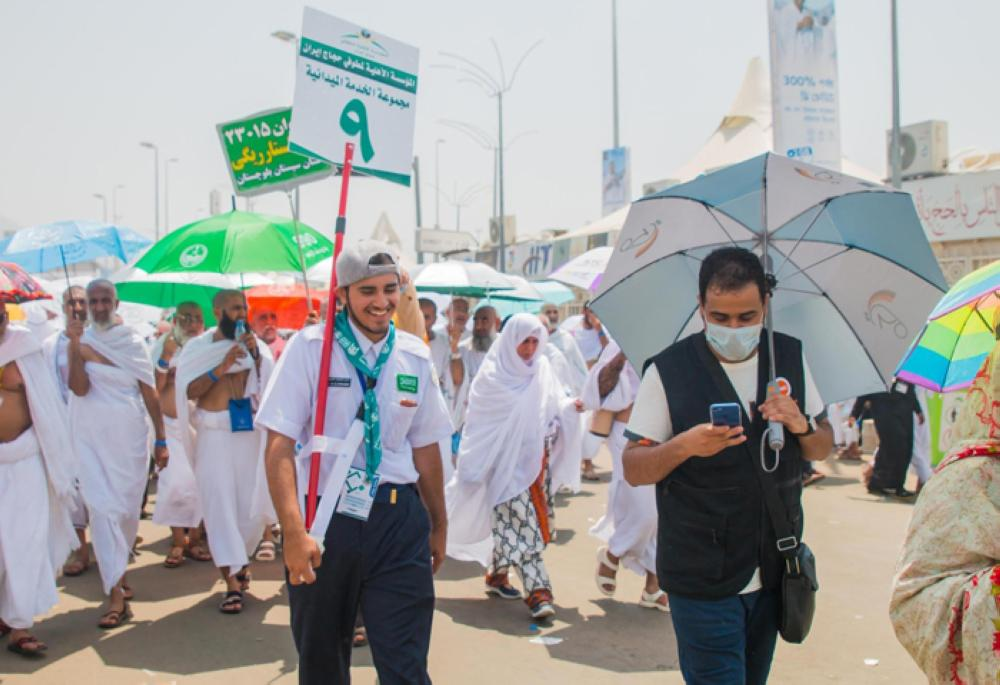 Saudi boy scouts are assisting pilgrims as they participate in the rites on the first of the three tashriq days. — SPA