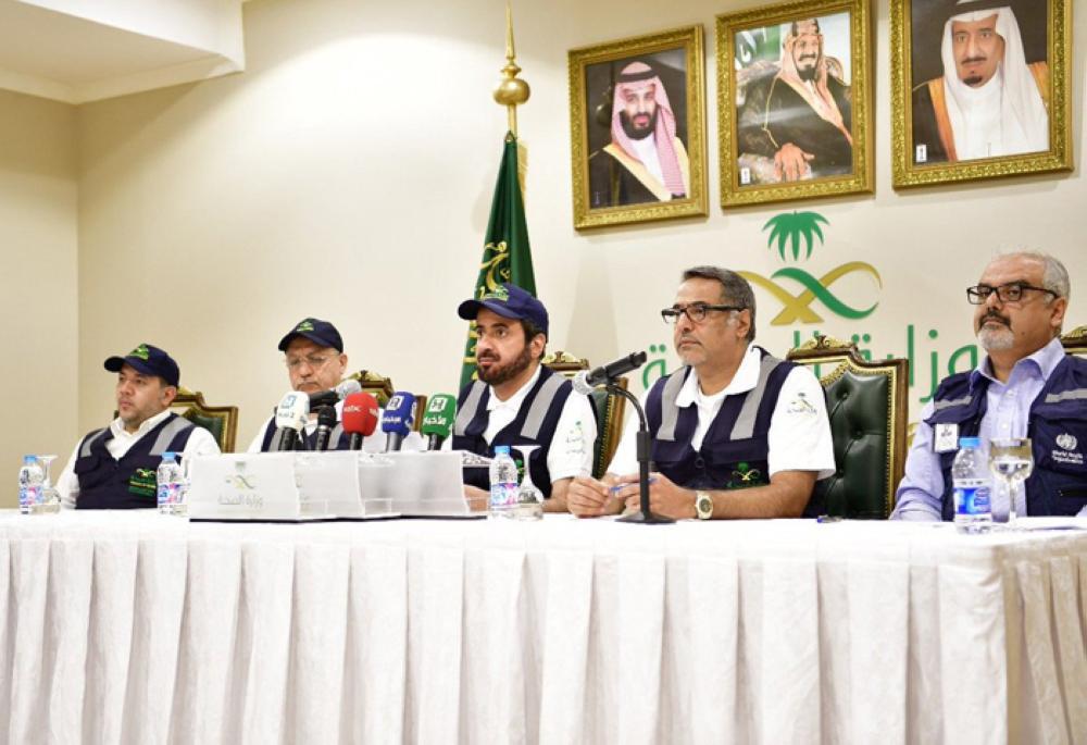 Minister of Health Dr. Tawfiq Bin Fawzan Al-Rabiah in a press confence he held Sunday in Mina