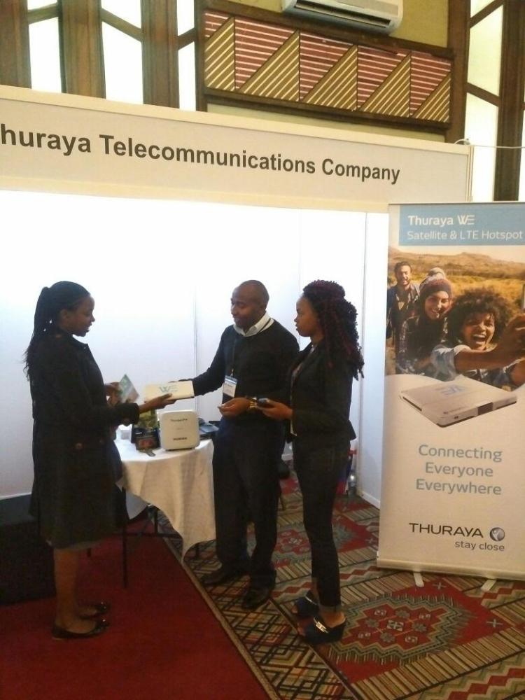 Thuraya's booth at AidEx 2017, Nairobi, Kenya