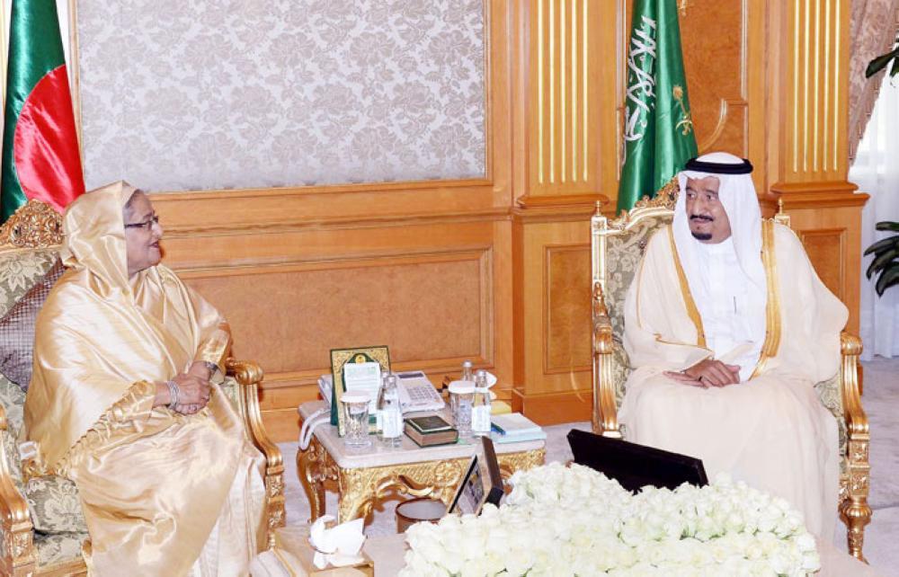 Prime Minister Sheikh Hasina met Saudi King Salman on 05 June 2016 at Al Salam Palace in Jeddah in June 2016