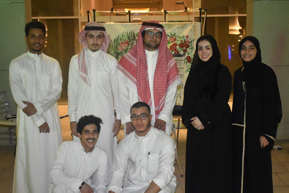 Founder of Arbab Al-Heraf Abdullah Al-Hodaif with other members of the group.