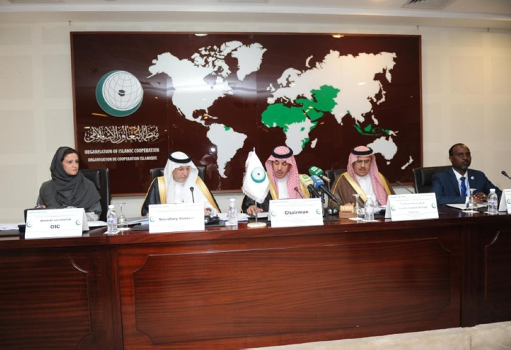 Minister of Culture and Information Dr. Awwad Al-Awwad addresses the General Assembly session of International Islamic News Agency in Jeddah on Sunday. – SPA