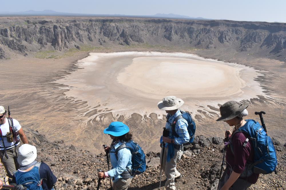 Saudi participants from Zahra breast Cancer Association enjoys the hiking trip at Wahba Crater