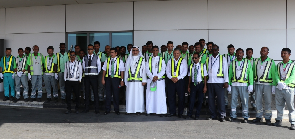 SGS crew pose for a group photo after a day's work in Yanbu