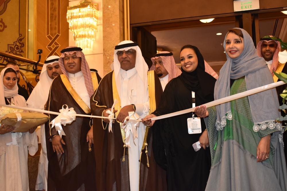 The president of Um Al Qura University Dr. Bakri Assas presides over the opening of DecoFair 2017