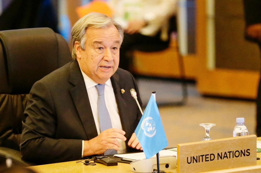 United Nations Secretary-General Antonio Guterres speaks during the 9th ASEAN UN Summit on the sideline of the 31st Association of Southeast Asian Nations (ASEAN) Summit in Manila on Monday. — AFP