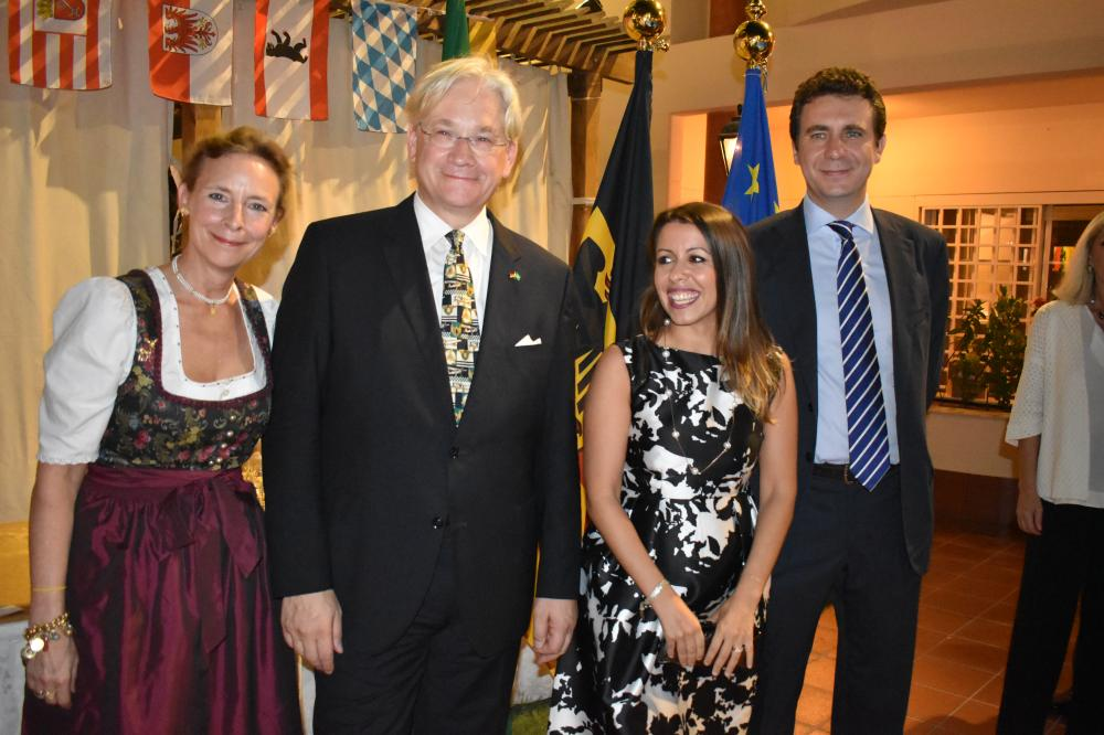 The German Consul General  Holger Ziegeler with the Italian Consul General Elisabetta Martini at the ceremony.
