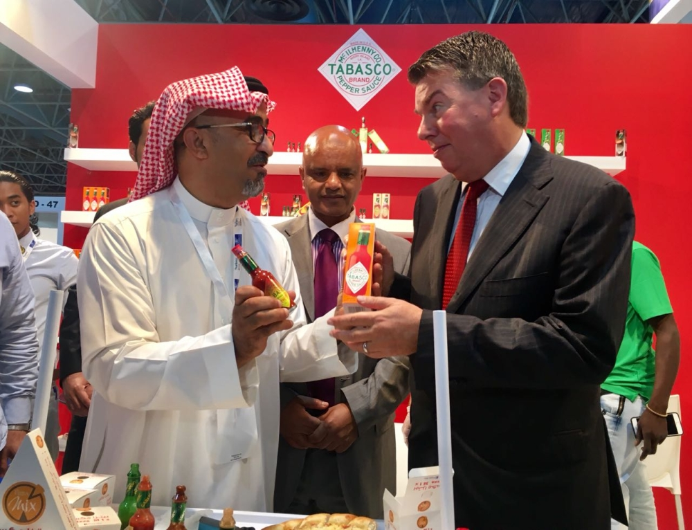 The US Consul General Matthias Mitman tours FoodEx. — SG photo