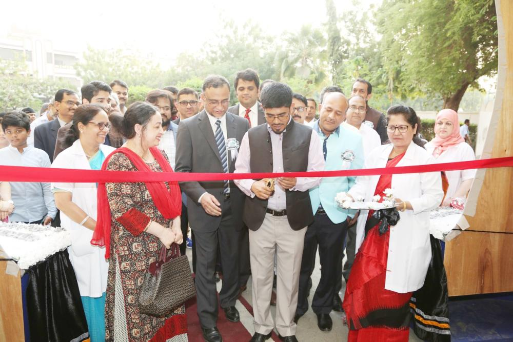 Indian Consul General Md. Noor Rahman Sheikh inaugurates the Educational Exhibition (EDEX) at the Indian International School Jeddah Girls' Section. — Courtesy photos