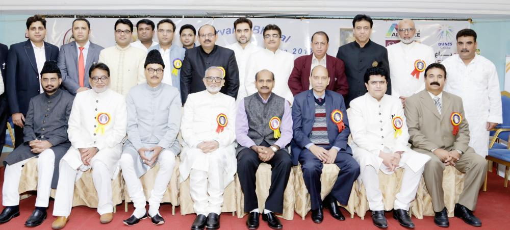 Group photo of officials withBhopal NRI Forum along with Chief Guest Indian Embassy First Secretary Dr. Hifzur Rehman.