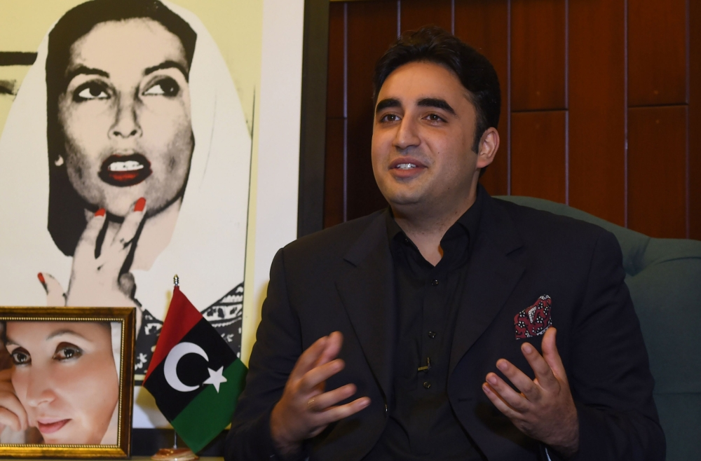 Chairman of the Pakistan Peoples Party (PPP) Bilawal Bhutto Zardari speaks during an interview at his home in Karachi, Pakistan, in this Nov.18, 2017. — AFP