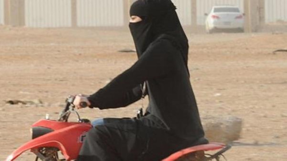 Women will get licenses to ride motorcycles as per a Royal decree announced in September, which comes into effect in June 2018. File photo of a woman riding a quad bike in Jeddah.