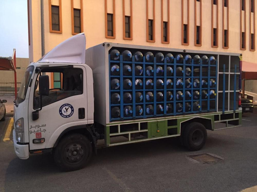 One of the water distribution trucks seized by Umrah Municipality in Makkah. — SG photo