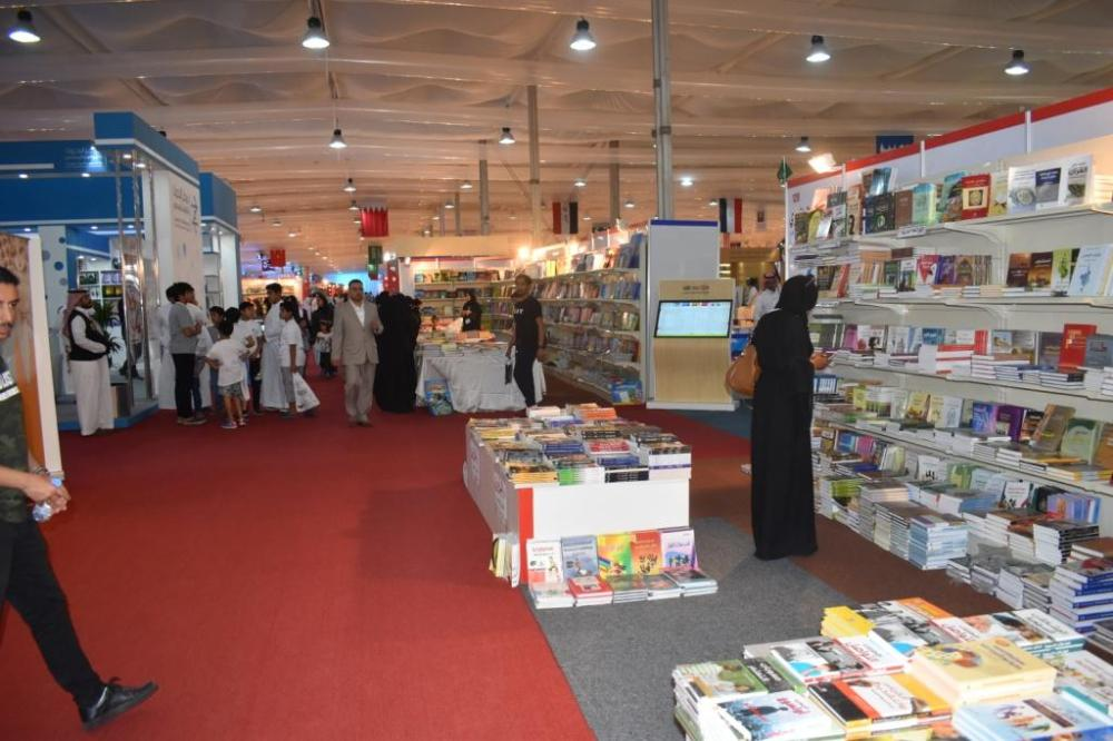 One of the stalls at Jeddah International Book Fair, which concluded at the Events Land in South Obhur Corniche on Sunday.