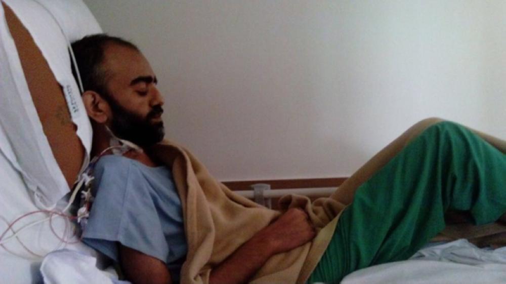 Faisal Abdullah Malik undergoing treatment in Chennai hospital before the heart transplant. — Courtesy photo