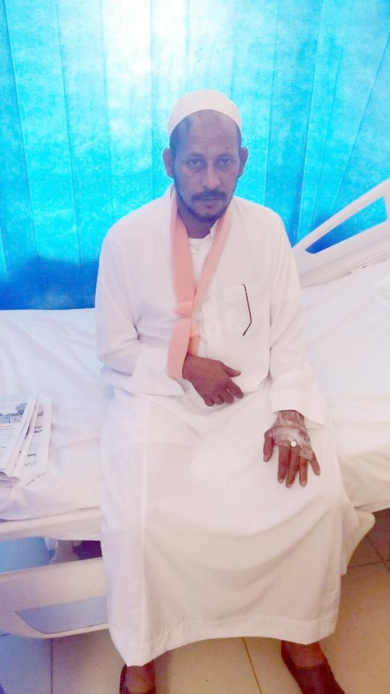 Sami Al-Numi, who lost his wife and six children in last week's road accident in Sabya, Jazan.