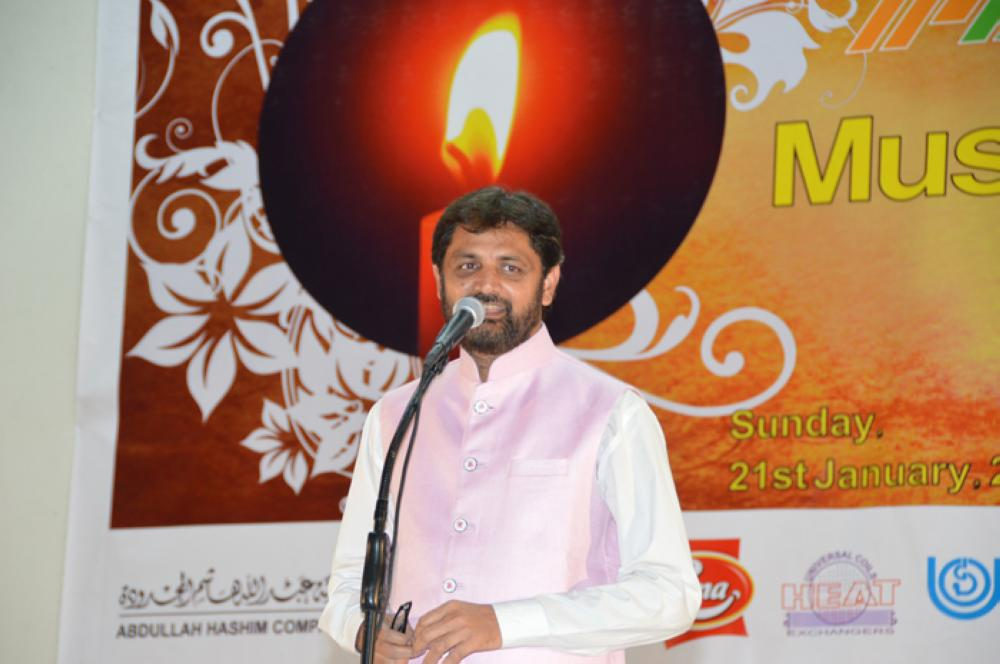 Host of the evening Abrar Kashif – SG Photo by Abdul Rahman M. Baig
