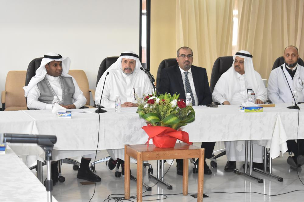Dr. Khalid Batterjee addressing the press conference in Jeddah on Monday.