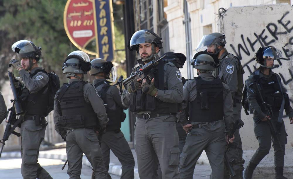 Israeli security forces get orders in Bethlehem, West Bank, as Palestinians protest US President Donald Trump's recognition of Jerusalem as Israel's capital. — Courtesy photo