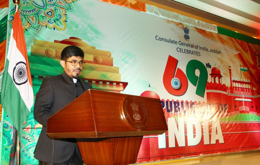Indian Consul General Mohammed Noor Rahman Sheikh speaking on the occasion. — Courtesy photos