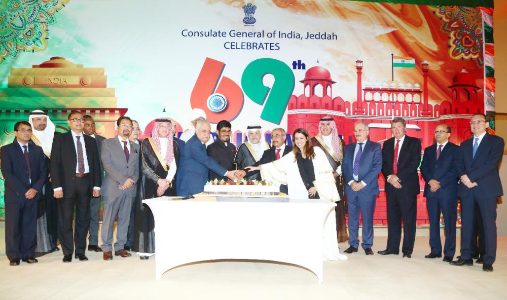 Ambassador Jamal Bakr Balkhoyor, director general of the Foreign Ministry's branch in Makkah region, was the chief guest, along with the Consul General Sheikh and other consuls general at the cake cutting ceremony.