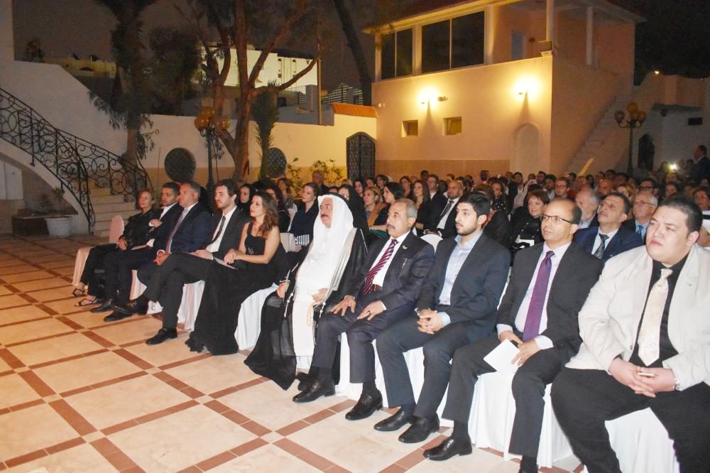 Distinguished dignitaries including diplomats and others attending  the piano resital event.