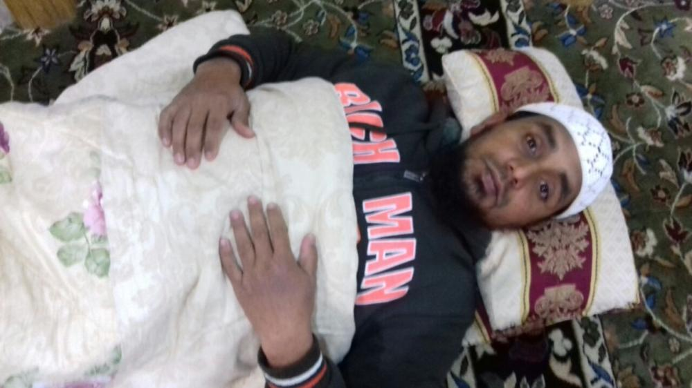 Without any money to pay for accommodation, the Indian worker takes shelter inside a mosque.