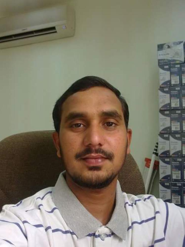 30-year-old Shaikh Arif before the accident that changed his life.