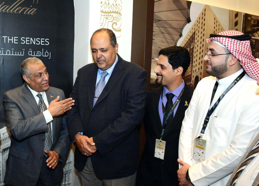 Ziyad Bin Mahfouz (second from left), CEO of Elaf Group, exchanges pleasantries with some industry officials