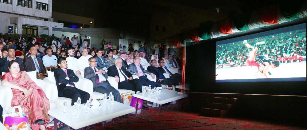 Indian Consul General Md. Noor Rahman Sheikh along with consuls general are viewing the feature film.