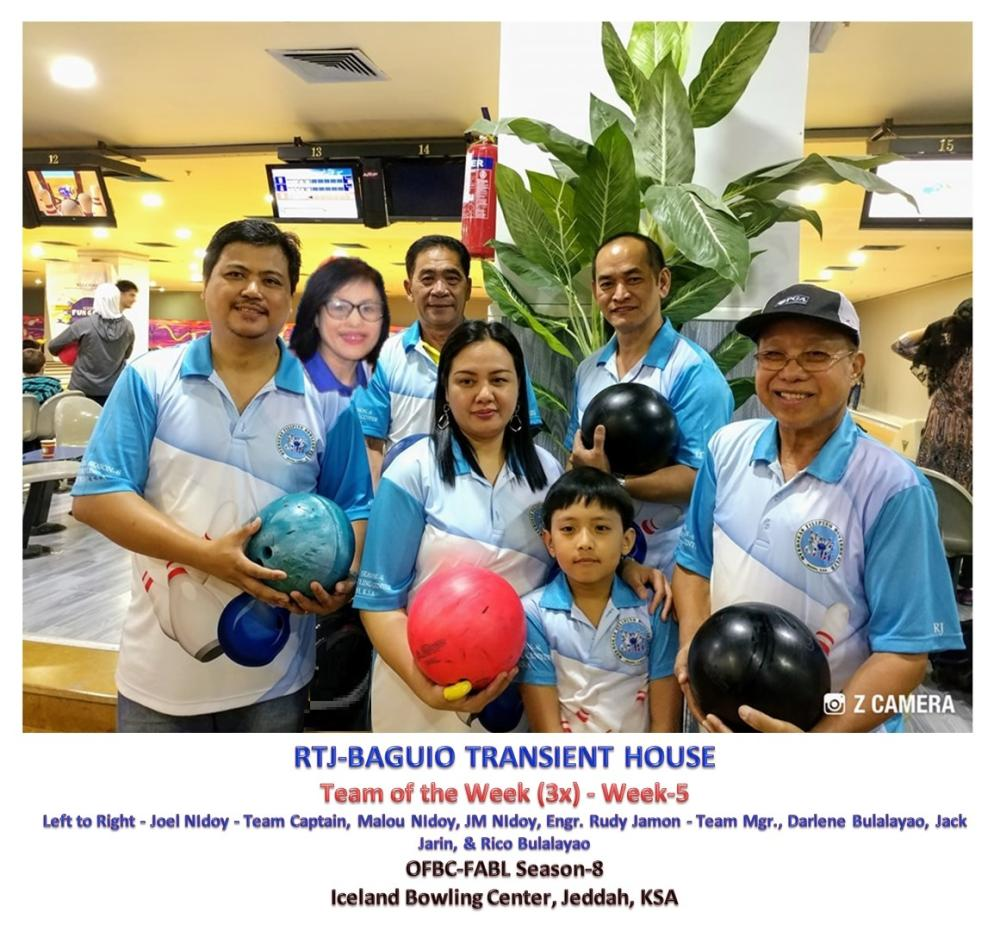 Three-time Team of the Week RTJ Baguio Transient House