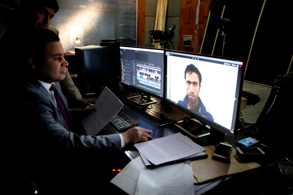 Video editors prepare for an episode on the set of the a show titled