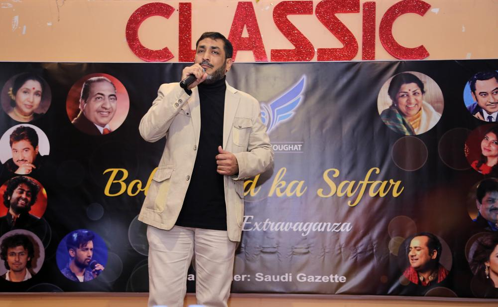 One of the singer enthralling the audience.