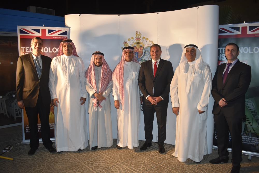 British Consul General Barrie Peach with other Saudi businessmen during the networking meeting in Jeddah. — SG photos