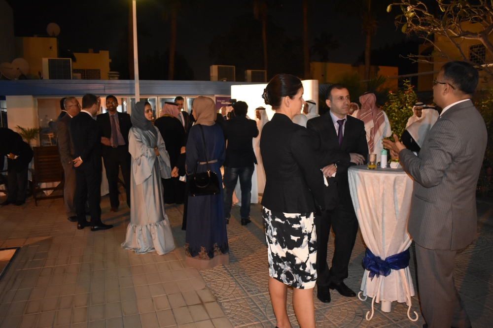 Saudi businessmen and representatives from the Northern Ireland companies networking during the event.