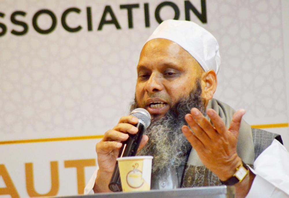 Muhammad Umar Gautam, chairman of the New Delhi-based Islamic Dawah Center, speaks at a function in Jeddah, recently.