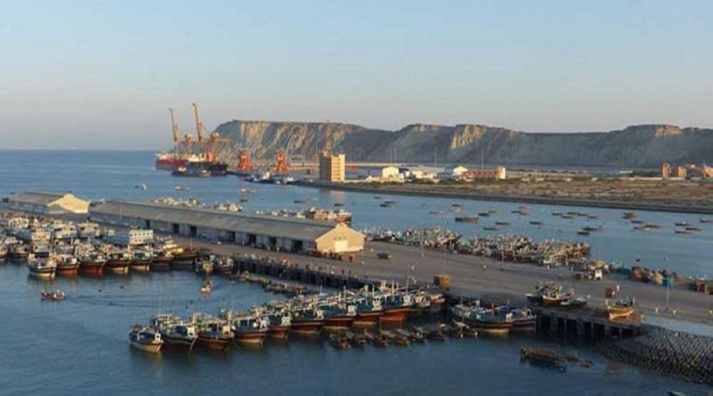A file photo shows construction work in progress at Pakistan's Gwadar Port as part of China-Pakistan-Afghanistan Economic Corridor agreement — AFP