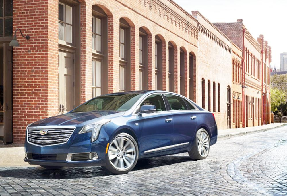 The 2018 Cadillac XTS luxury sedan is elevated with the new generation of design and technology. XTS Platinum shown here in Dark Adriatic Blue Metallic