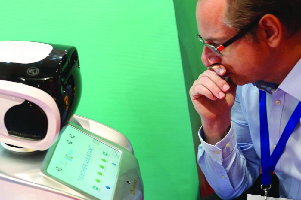 Atlab Teach Assist Robot is upgraded with new software for better facial recognition capabilities