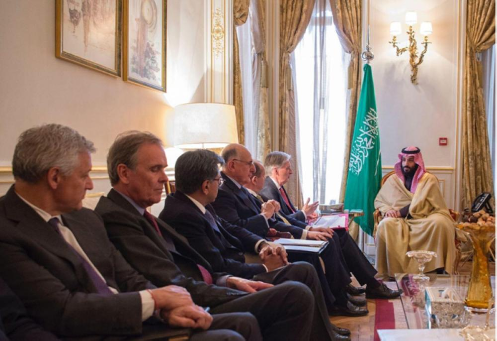 Crown Prince Muhammad Bin Salman holds talks with British Chancellor of the Exchequer Philippe Hammond in London on Thursday — SPA