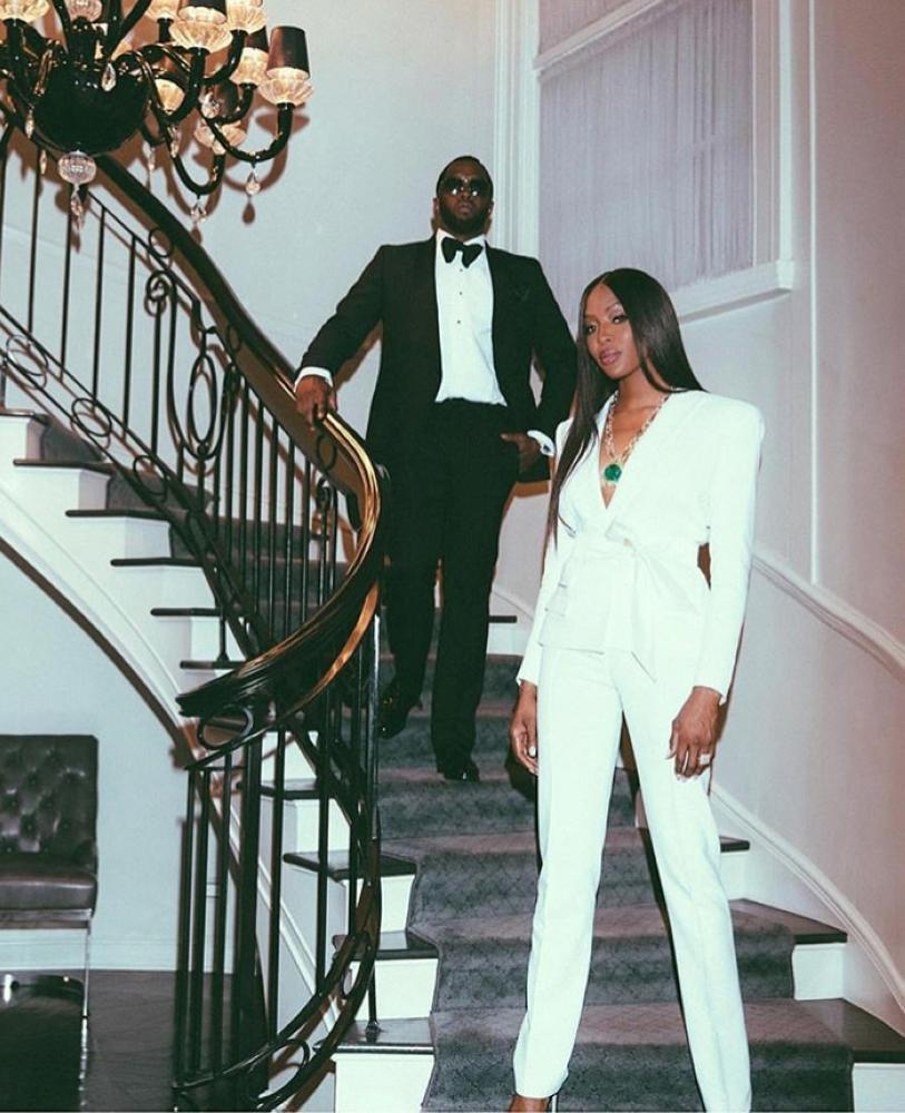 "Sean ""Diddy"" Combs and Naomi Campbell"