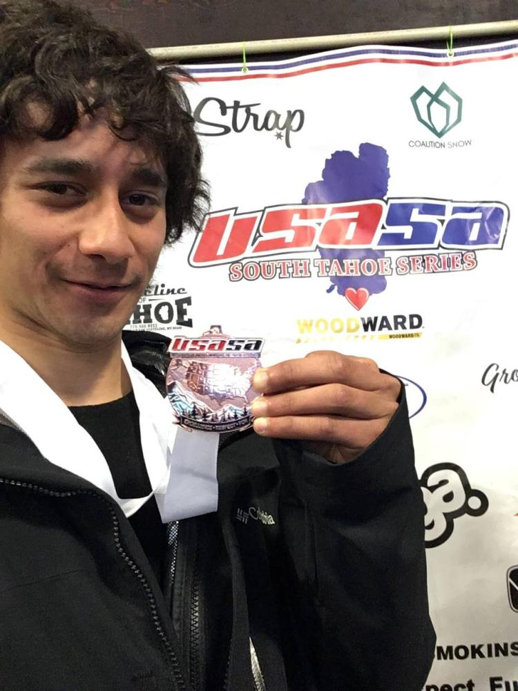 Saudi snowboarder Bander Saleh wins bronze in a regional competition in the US.