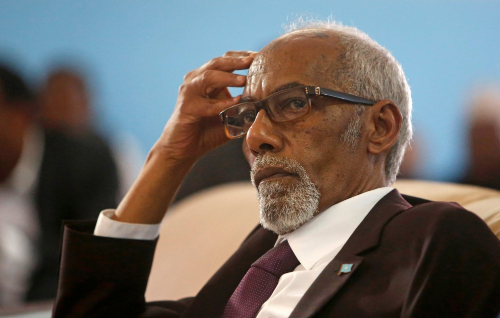 Speaker of Somalia's parliament Mohamed Sheikh Osman Jawari attends his election process in Mogadishu, Somalia, in this Jan. 11, 2017 file photo. — Reuters