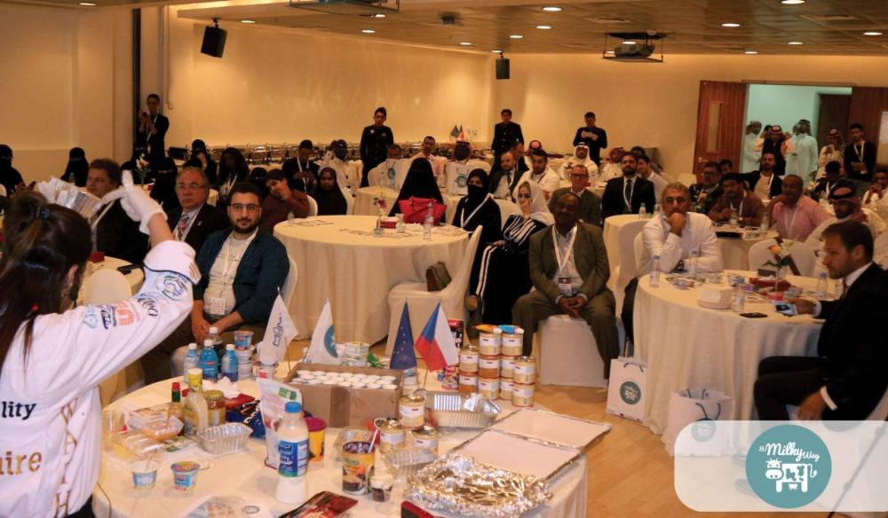 Delegates and guests invited to a sumptuous buffet which include the dairy products being promoted